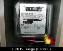 Osaki OB9WHT single phase 60 hz 240v meter.JPG